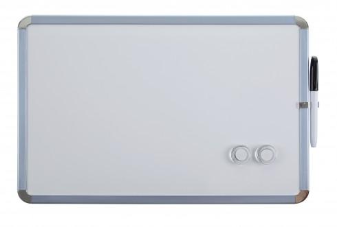 Magnetisches Whiteboard Magnettafel mit weißem Kunststoffrahmen 28 x 43 cm