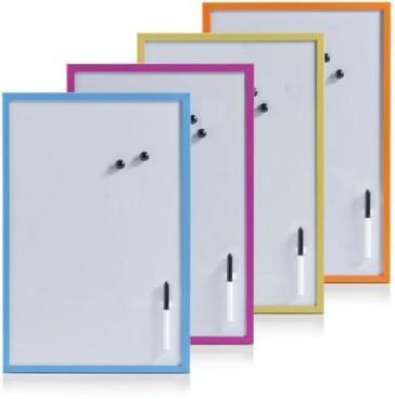 Magnetische Whiteboards mit farbigem Rahmen