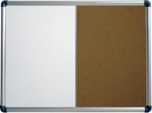 Combotafel Pinnwand und Whiteboard