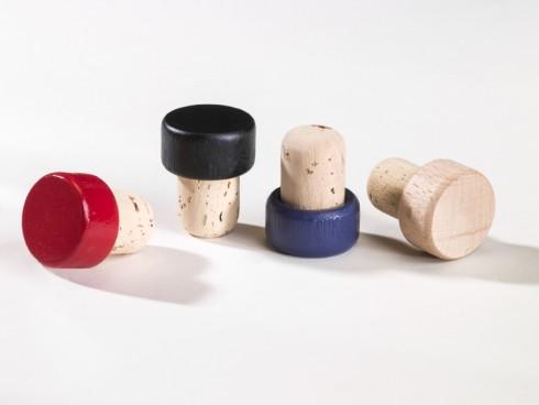 Holzgriffkorken - verschiedene Farben