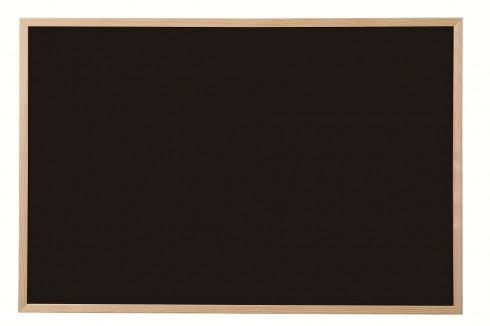 Kreidetafel in schwarz, mit hellem Holzrahmen, 60 x 40 cm