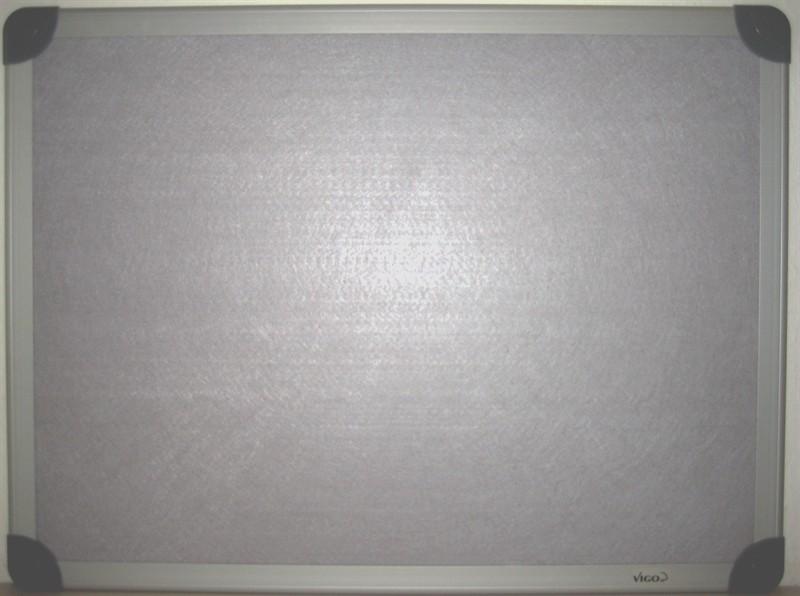 VIGO Filztafel Grau mit Alurahmen 90 x 60 cm